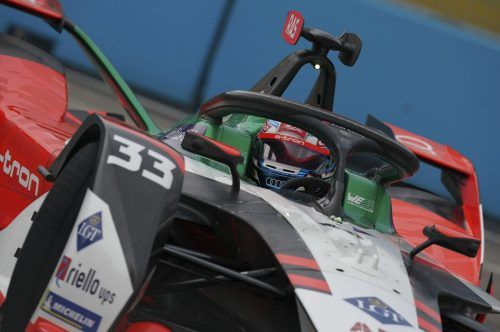 Rene Rast gibt in Berlin-Tempelhof mit der Audi-Rennabteilung seine Abschiedsvorstellung in der Formel E. AP