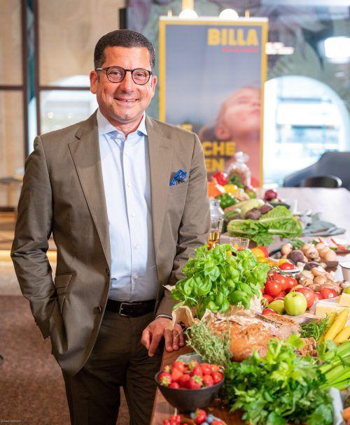 Rewe-International-Vorstand Marcel Haraszti. billa