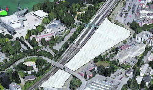 Rhomberg und i+R haben sich für ihr Seequartier Grundstücksflächen der ÖBB gesichert. Seequartier, Eberle