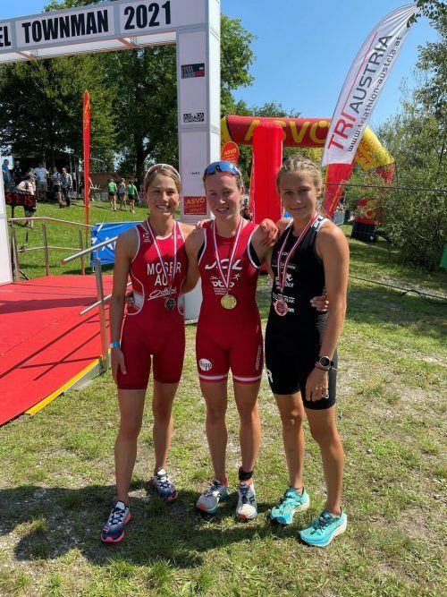 Sarah Hämmerle mit ihrer ersten Goldmedaille bei Staatsmeisterschaften.ötr