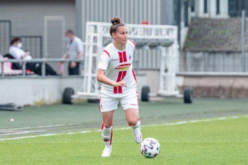 Sarah Klotz (l.) gewann mit dem FC Luzern den Frauen-Pokal.VN