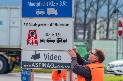 Seit 15. Dezember 2019 gilt die Vignettenpflicht erst ab Hohenems. VN/Stiplovsek