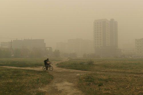 Seit Tagen versinken Dörfer und Städte der Region im Rauch. AP
