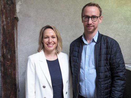 Stadträtin Gudrun Petz-Bechter und Stadtvertreter Christian Fiel.