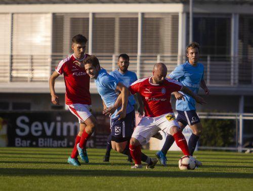 Stark gefordert war der FC Lustenau in Fußach.Paulitsch
