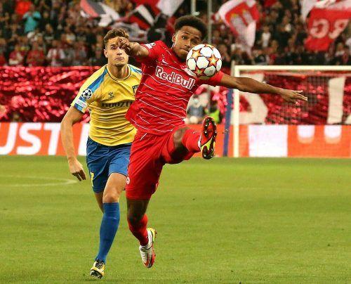Stürmer Karim Adeyemi erzielte in der 57. Minute den Ausgleich für die Bullen, die am Ende als verdiente Sieger vom Platz gingen.afp