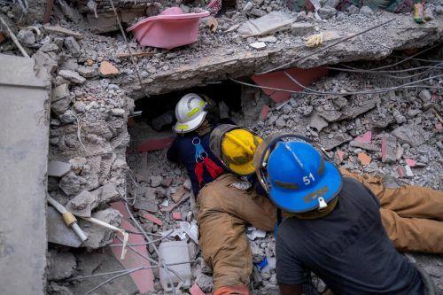 Suche nach Überlebenden: Nach dem verheerenden Erdbeben in Haiti ist die Zahl der Todesopfer mittlerweile auf mehr als 1400 gestiegen. reuters