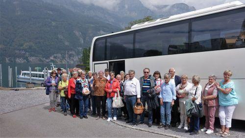 Tagesausflug nach Quinten am Walensee in der Schweiz.Pensionistenverband partenen