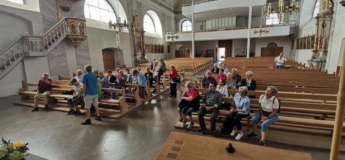 Unter anderem wurde die Pfarrkirche Sulzberg besichtigt. Werner SChnetzer