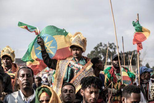 Unterstützung für die äthiopische Armee: Die Regierung weist die Aussagen der Truppen vonTigray zurück, dass es dort einMassakergab. AFP