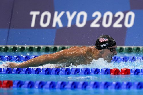 US-Star Caeleb Dressel holte sich bei sechs Starts fünf Goldene und war damit der erfolgreichste Schwimmer in Tokio.APA