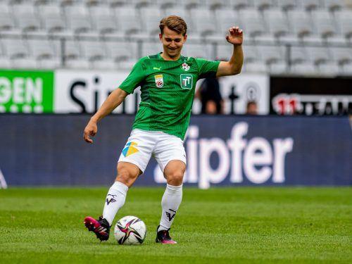 Valentino Müller hofft auf einen Einsatz gegen seinen Exklub.gepa