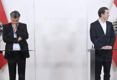 Verhältnis zwischen grünem Vizekanzler Werner Kogler (l.) und türkisem Kanzler Sebastian Kurz sorgt für Debatten. APA