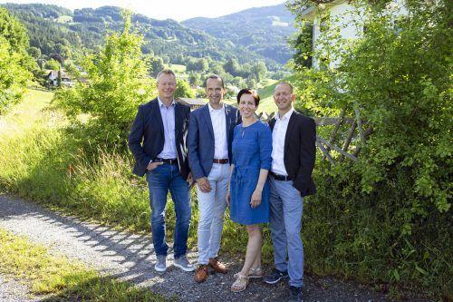 v.l. Christof Wirth, Markus und Verena Prünster und Kurt Michelini. c.eugster