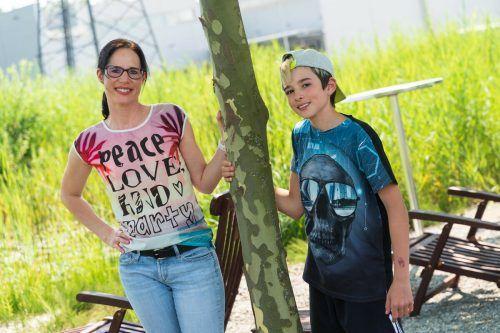 """""""Wir sind ein gutes Team"""", sagt Alleinerzieherin Sabrina Grass über sich und ihren Sohn Julian. VN/STIPLOVSEK"""