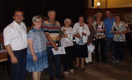 55 Mitglieder wurden bei der Jahreshauptversammlung des Pensionistenverbandes geehrt.Pensionistenverband Feldkirch