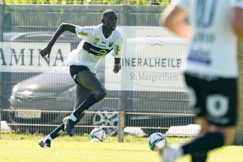 Altachs Neuzugang Pape-Alioune Ndiaye absolvierte bei der 1:3-Niederlage gegen FC Vaduz die ersten Minuten für seinen neuen Klub. SCRA
