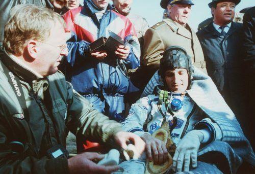 Am 10. Oktober 1991 landete Franz Viehböck um 5.12 Uhr MEZ mit einer Sojus-Landekapsel in Kasachstan.APA