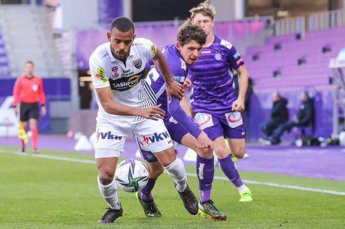 Anderson absolvierte 43 Pflichtspiele im Dress des SCR Altach. Heute gibt der Brasilianer sein Debüt für den FC Dornbirn.gepa