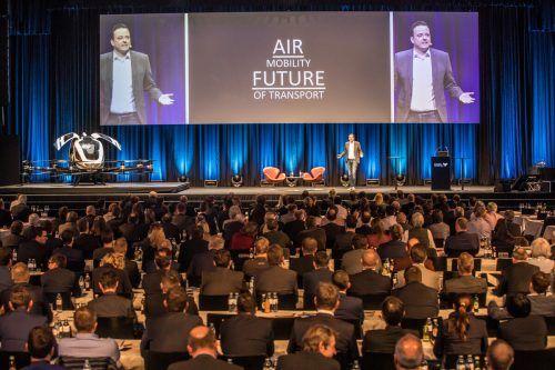 Andreas Perotti am Vorarlberger Wirtschaftsforum 2019. Coronabedingt musste das vorjährige 37. Forum digital abgehalten werden. Steurer