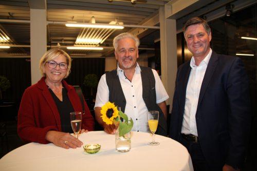 Angelika und Reinhard Gasser, Vizebürgermeister Daniel Allgäuer (Feldkirch).