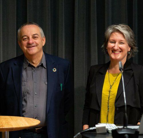 ASSET-Leiter Gerald Gröchenig mit Mirjam Steinbock, IG-Kultur. koch