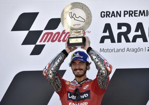 Bagnaia ist nach seinem Erfolg in Spanien Zweiter in der WM-Gesamtwertung.AFP