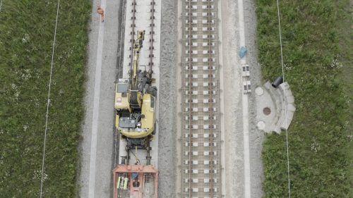 Bauarbeiten für die Schnellfahrstrecke zwischen Wendlingen und Ulm. rhomberg