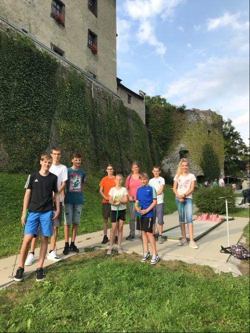 BCT-Nachwuchs beim Minigolf in FeldkirchBCT