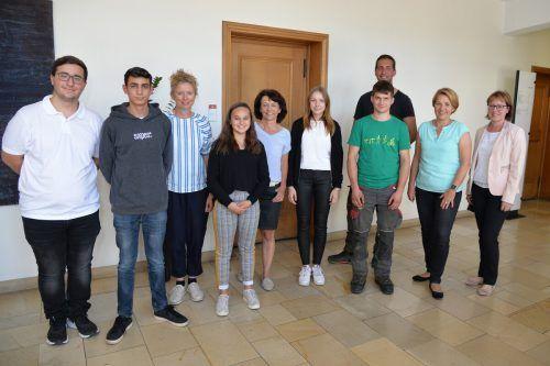 Begrüßung der fünf neuen Auszubildenden im Dornbirner Rathaus.Stadt