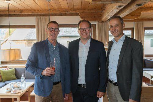 Bernhard Ölz (l.) sowie Markus Raith und Edgar Sohm.