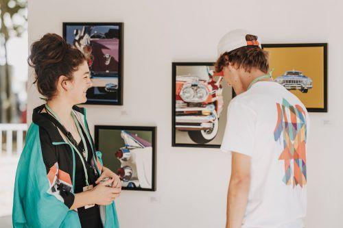 """Bis 2. Oktober können die Werke der """"Young Art Generation""""-Künster in der Galerie """"9und20"""" besichtigt werden.Angela Lamprecht"""