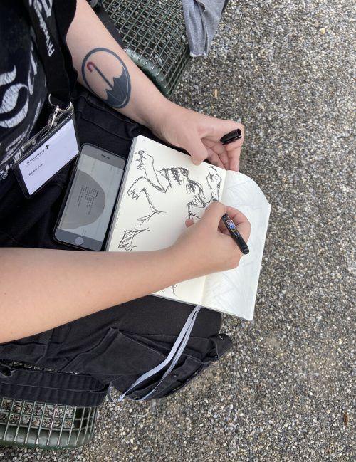 Cedric Fritz hält sich in Retromanier lieber an Zeichnungen.