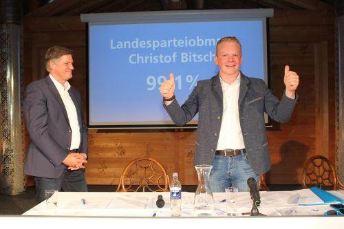Christof Bitschi durfte sich beim Landesparteitag der FPÖ am Muttersberg über 99,1 Prozent der Stimmen freuen. VN/JS