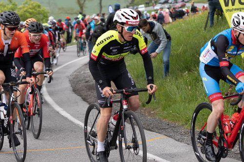 Daniel Ganahl holte in Oberösterreich den ersten Podestrang als Radprofi.VErein