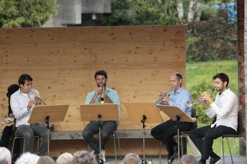 Daniel Huber, Christian Sonderegger, Bernhard Lampert und Gabriel Maria Morre begeisterten das Publikum. Meusburger