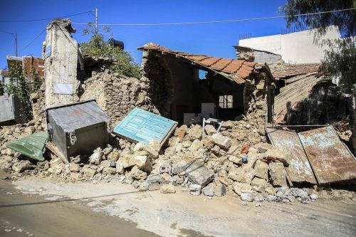 Das Erdbeben brachte zahlreiche Häuser auf Kreta zum Einsturz. afp