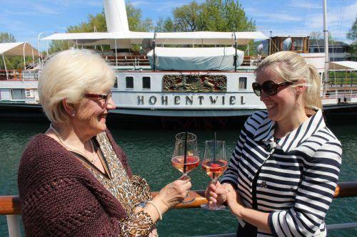 Das mit der Zeitreise verknüpfte Weinfestival ist im Finale der Sommersaison der Historischen Schifffahrt Bodensee noch einmal ein Highlight. stp