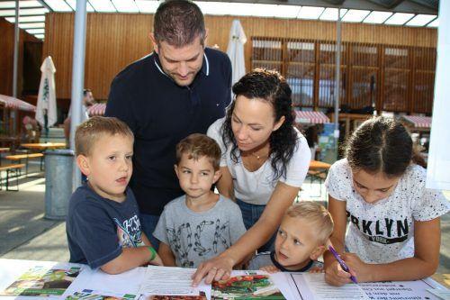 Das Walgau Forum hatte auch für Familie einiges zu bieten, so nahm Familie Becker-Hagen etwa an der Energie-Rallye teil.