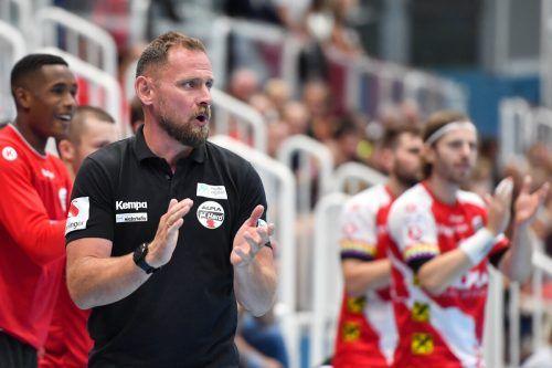 Debüt für Hannes Jon Jonsson als Hard-Cheftrainer gegen Bregenz Handball.