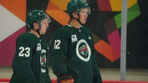 Dem jungen Stürmerduo Marco Rossi und Matt Boldy gehört beim NHL-Klub Minnesota Wild die Zukunft.MW