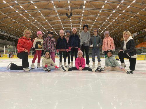 Der Eislaufverein Dornbirn hielt im Rahmen des Dornbirner Familiensommers zwei Kurse ab.EVD