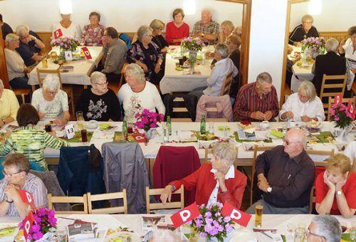 Der gesellige Nachmittag fand bei den Pensionisten großen Anklang. PVÖ