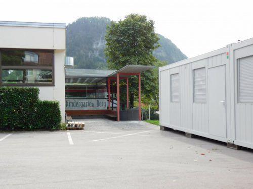 Der Kindergarten Berg wird in Modulbauweise erweitert, um genügend Platz für die Ganztageskindergruppen bieten zu können.Mäser