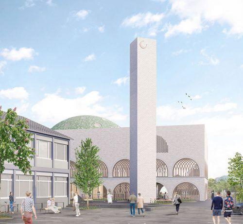 So soll das islamische Kulturzentrum ausschauen.Rendering: Specht/Cansiz