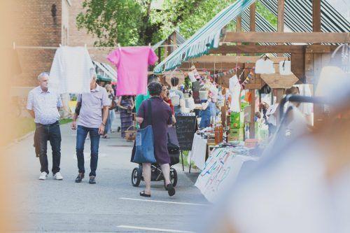 """Der """"Use What You Have""""-Markt findet am Wochenende auf dem Areal der Fabrik Klarenbrunn in Bludenz statt.Magdalena Türtscher"""