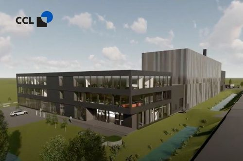 Die 3-D-Visualisierung zeigt das Aussehen des neuen CCL-Label-Werkes in Dornbirn. hassler