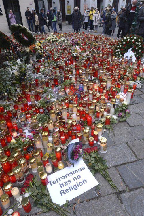 Die Anteilnahme nach dem Terroranschlag in Wien war groß. APA