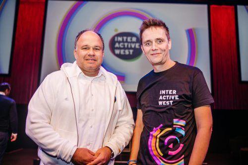 Die Gastgeber der Interactive West: Gerold Riedmann und Georg Burtscher.