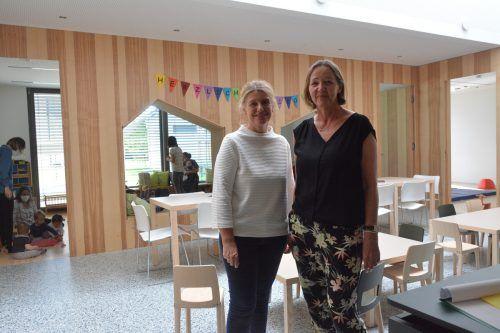 Die Leiterinnen Elisabeth Bösch und Birgit Schuler (v. l.) schätzen die neuen Räumlichkeiten sehr.
